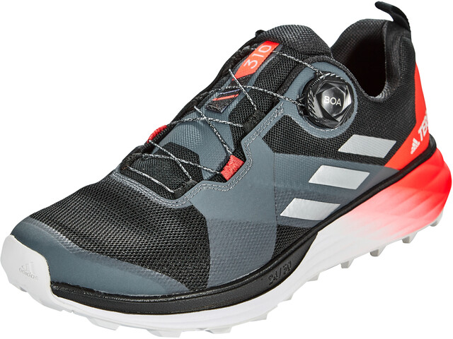 adidas TERREX Two Boa Zapatillas Trail Running Hombre, core black/silver metal/solar red